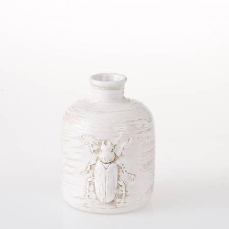 Vase hvit keramiikk S